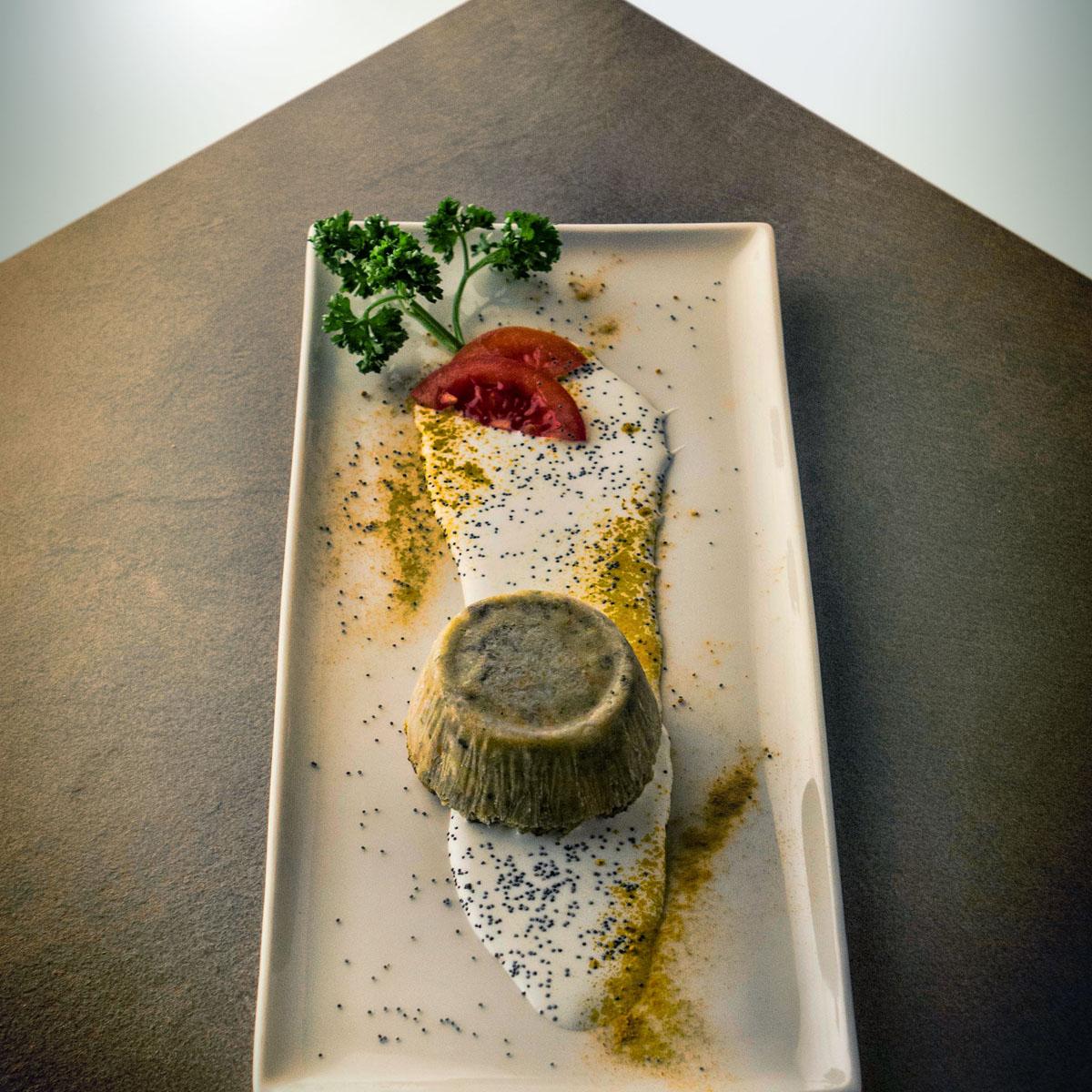 Capriccio di verdura con fonduta della valle